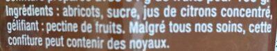 Abricot Intense - Ingredienti - fr