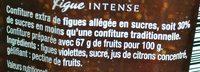 figue intense - Ingredienti - fr