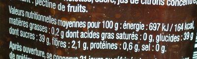 figue intense - Valori nutrizionali - fr