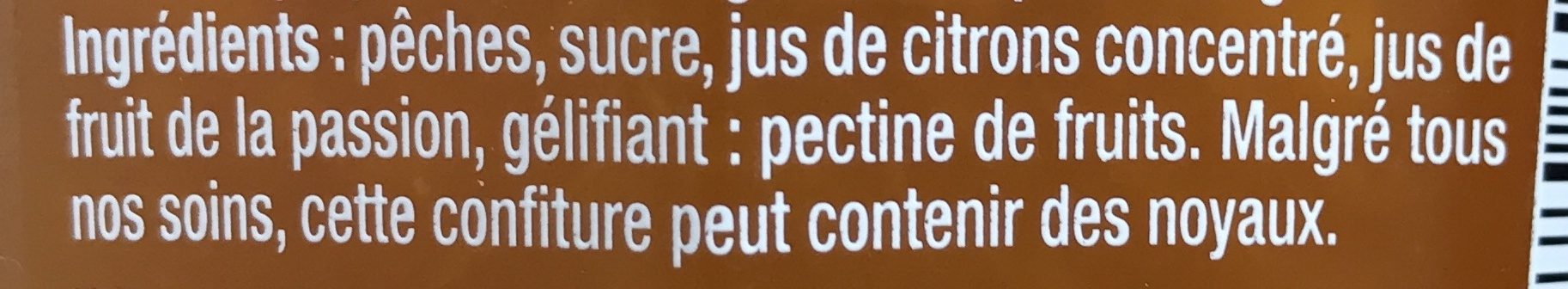 Confiture pêche intense - Ingrediënten - fr