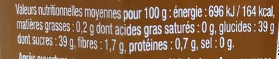 Confiture pêche intense - Voedingswaarden - fr