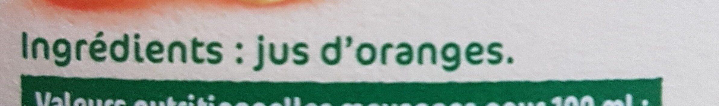 jus orange - Ingrédients - fr