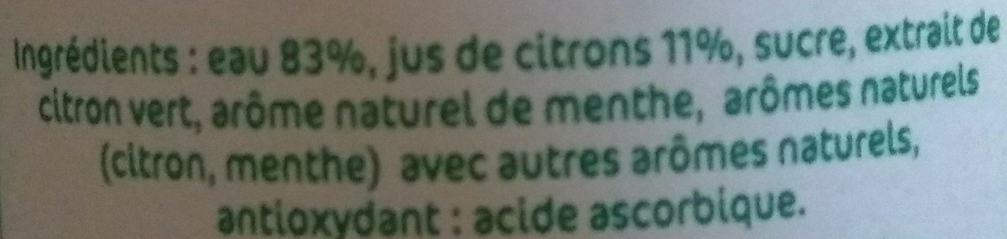 Citronade à la menthe - Ingrediënten