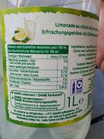 Citronade à la menthe - Voedigswaarden