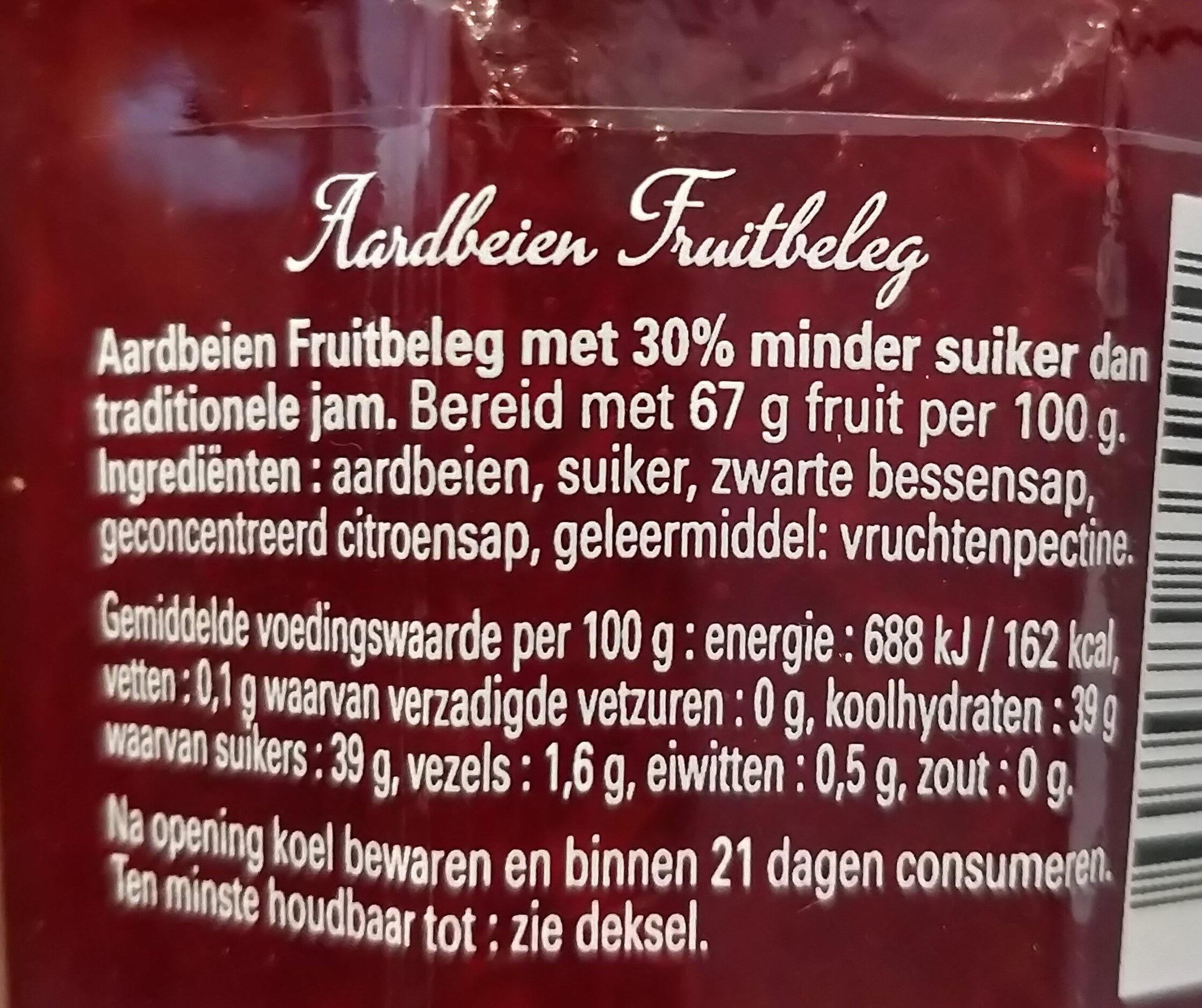 Bonne maman aardbeien meer fruit minder suiker - Ingredients - nl