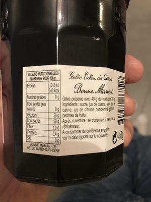 Gelée de Cassis - Ingrediënten - fr