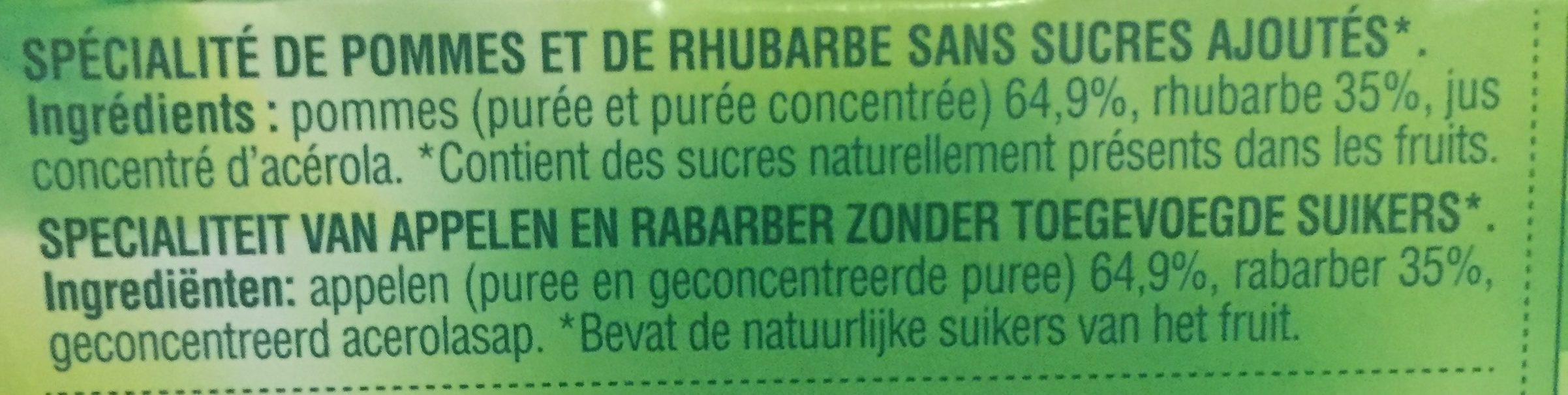 Pomme rhubarbe - Ingrédients - fr