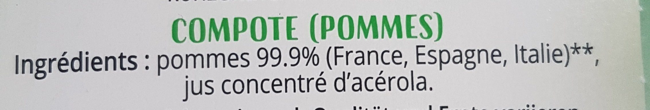 Compote pomme - Ingredients - fr