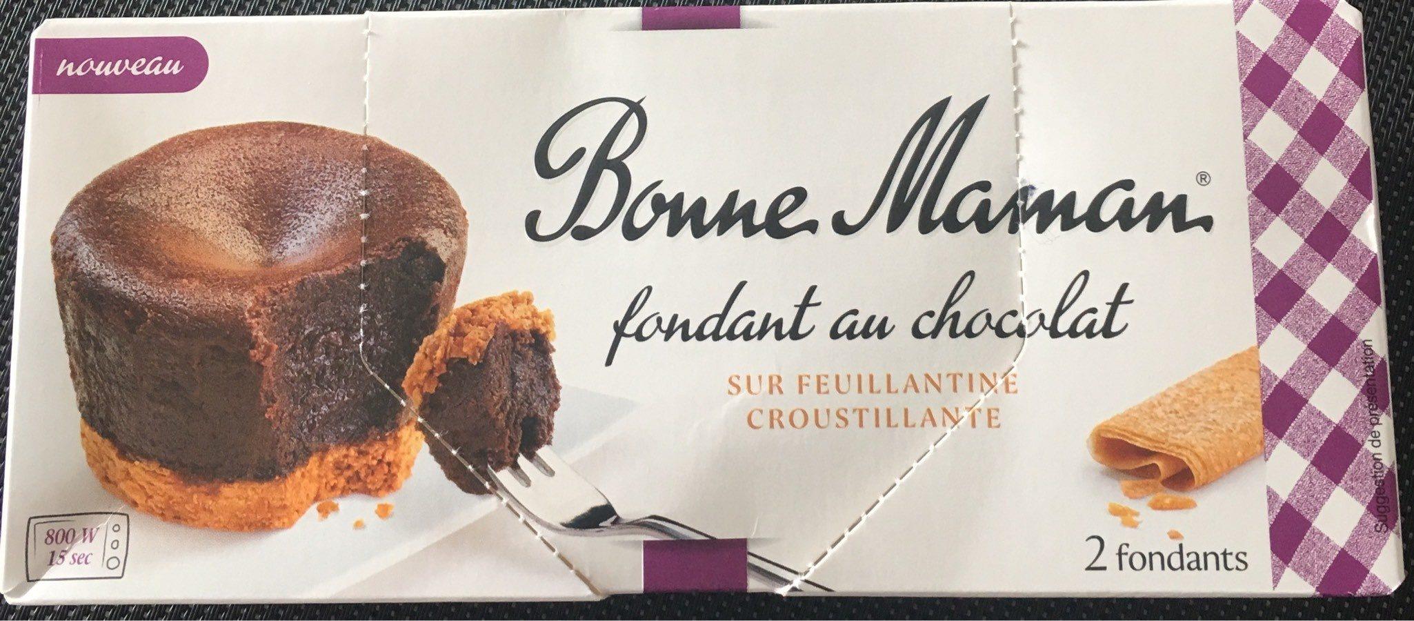 Fondant au chocolat sur feuillantine croustillante - Produit