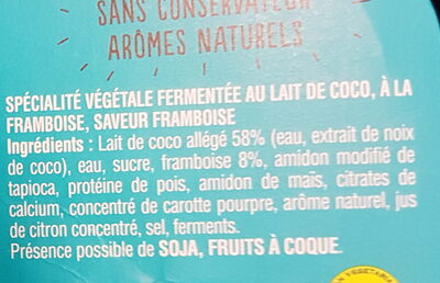 Gourmand & Végétal Framboise - Ingrédients - fr