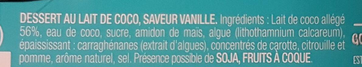 Gourmand & Végétal Délice Vanille - Ingrédients - fr