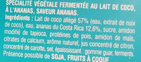Gourmand & Végétal Ananas - Ingrédients - fr