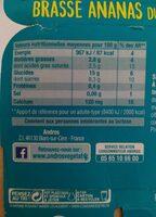 Gourmand & Végétal Ananas - Informations nutritionnelles - fr