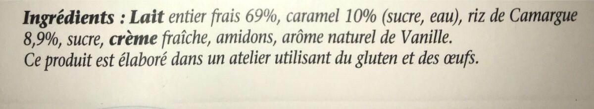 Mon riz au lait caramel - Ingredients - fr