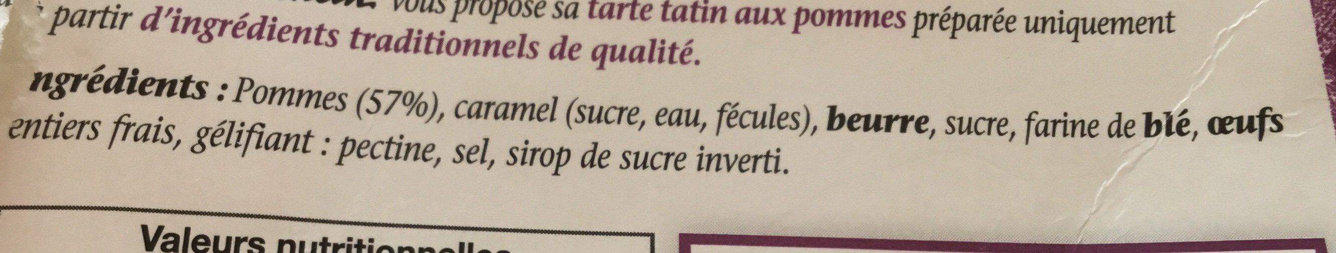 Tarte tatin aux pommes - Ingredients