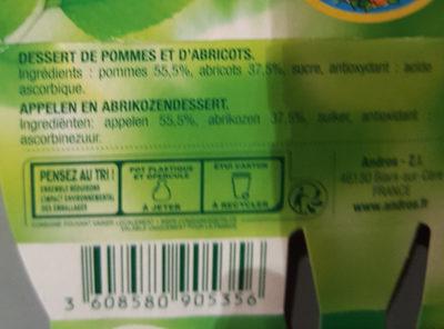 Dessert fruitier pomme abricot - Ingredienti - fr