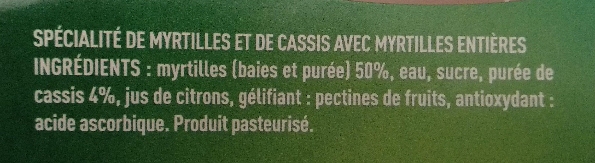 Fraîcheur de myrtilles - Ingredients - fr