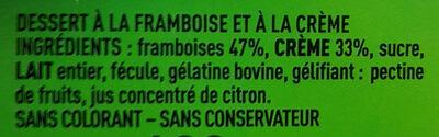 Mousse aux framboises - Ingrédients - fr