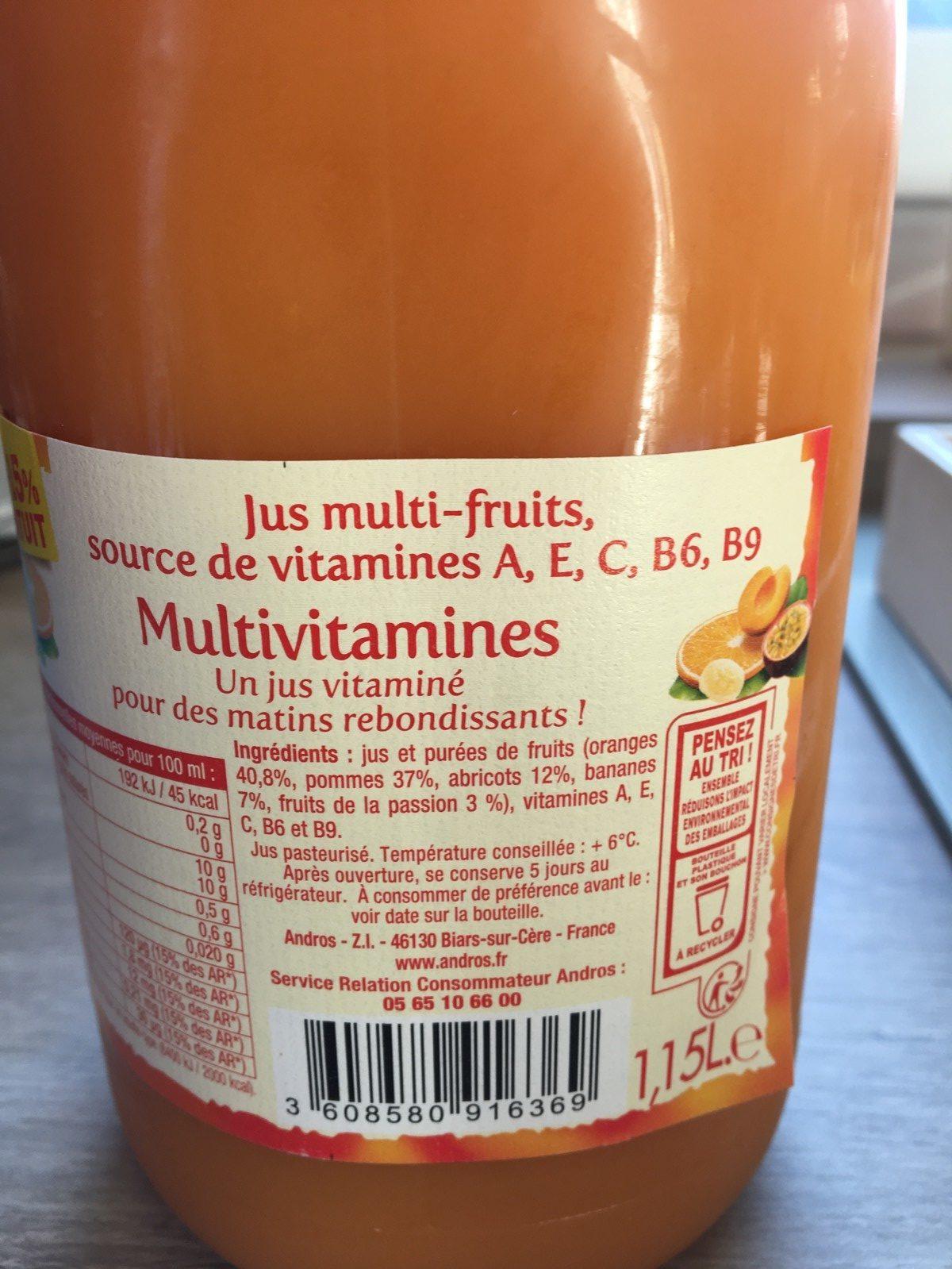 Jus multivitamines - Ingrédients - fr