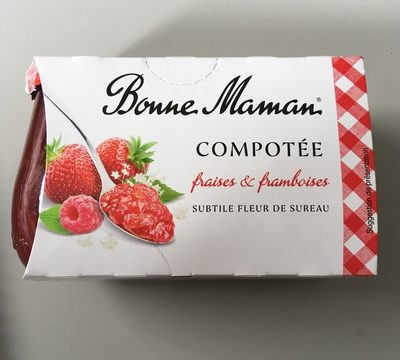 Compotée fraises et framboises - Product