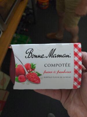 Compotée fraises & framboises - Produit - fr