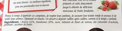 Compotée fraises & framboises - Ingredienti - fr
