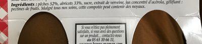 Compotée pêches🍑 & abricots - Ingredienti - fr