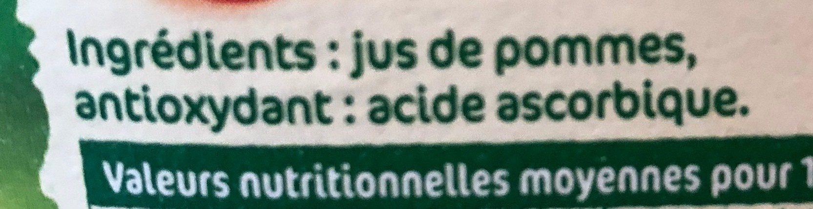 Jus de pommes pressés - Ingrédients - fr