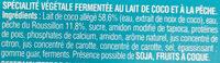So good & Veggie Pêche - Ingredients - fr
