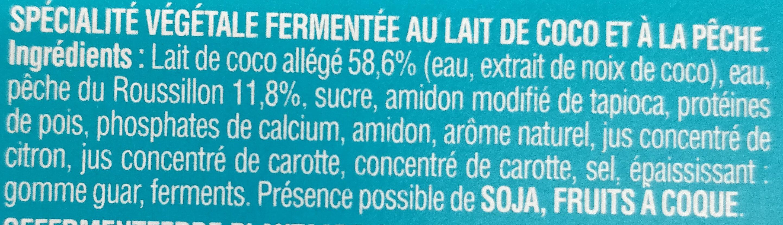 So good & Veggie Pêche - Ingrediënten - fr