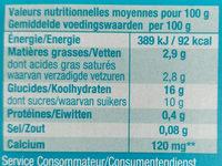 So good & Veggie Pêche - Voedingswaarden - fr