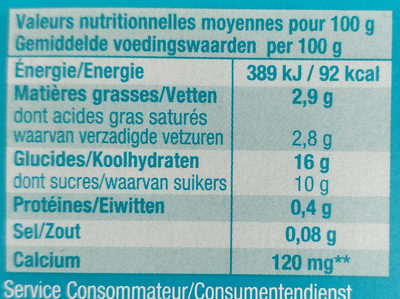 So good & Veggie Pêche - Nutrition facts - fr