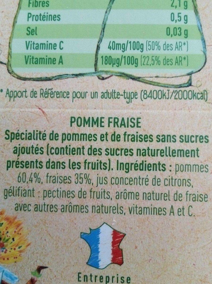 Kidifruit Pomme Fraise - Ingredients - fr
