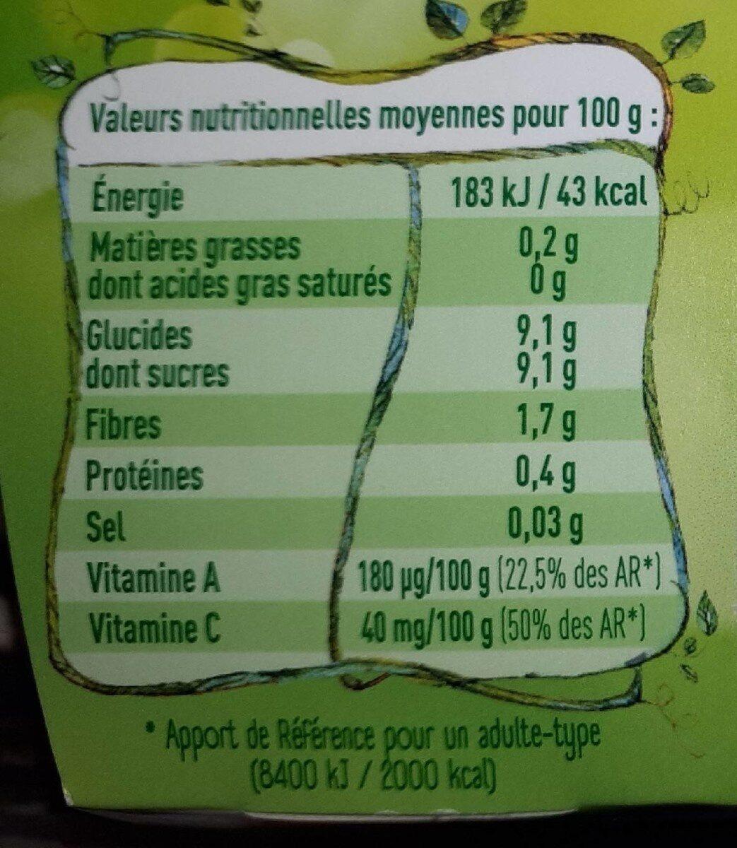Kidifruit Pomme Fraise - Nutrition facts - fr