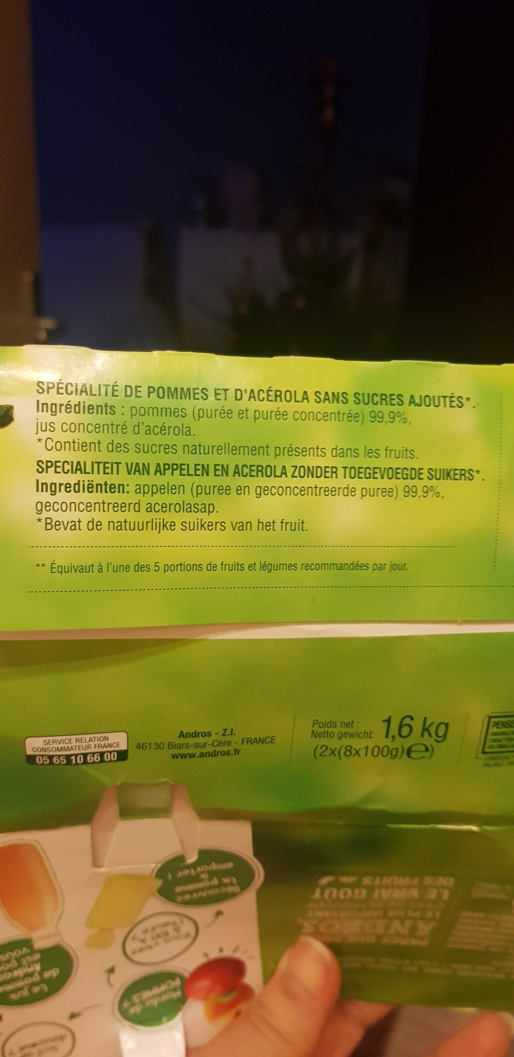 Pomme nature sans sucres ajoutés - Ingredients