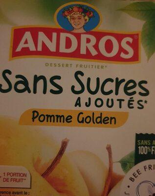 Andros sans sucre ajoutés pomme golden - Product - fr
