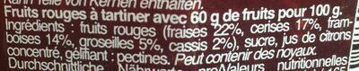 Fruits rouges intense - Ingredienti - fr