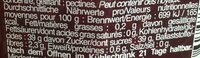 Fruits rouges intense - Informazioni nutrizionali - fr