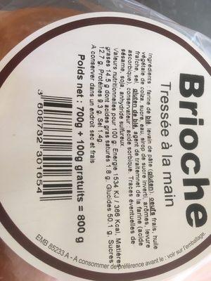 Brioche tressée à la main - Ingrédients - fr