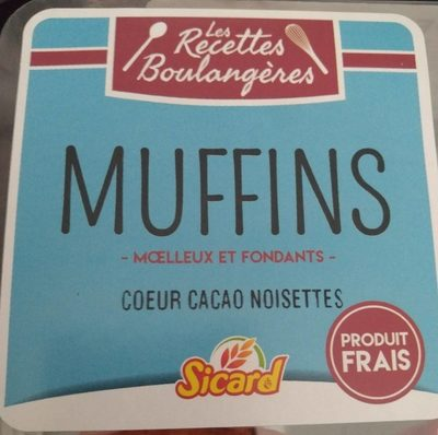 4 muffins coeurs cacao noisette - Product