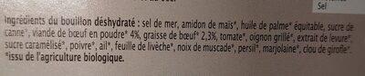 Bouillon de Bœuf - Ingredients