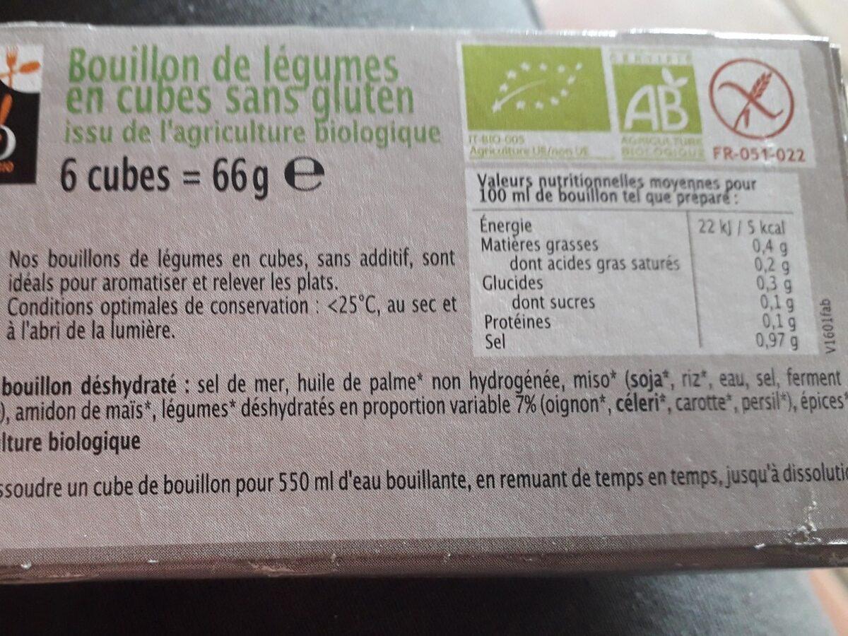 Bouillon de légumes en cube - Ingredients