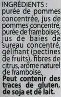 Fruit Stick - Framboise - Ingredients - fr