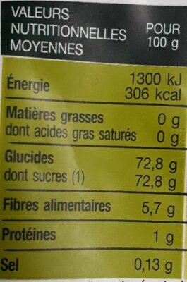 Fruit Stick - Pomme - Informations nutritionnelles - fr