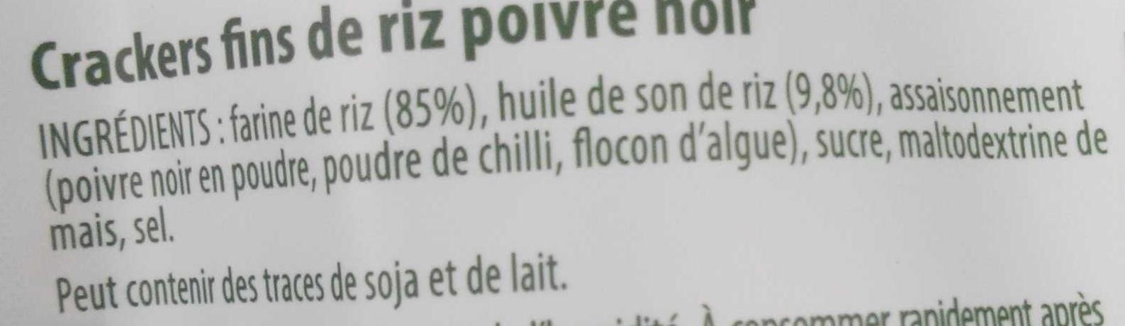 Rice Crackers - Poivre Noir - Ingredienti - fr