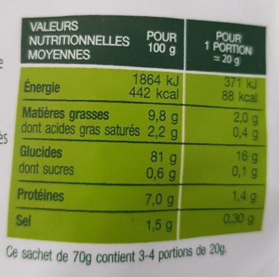 Rice Crackers -Sel de mer - Valori nutrizionali - fr