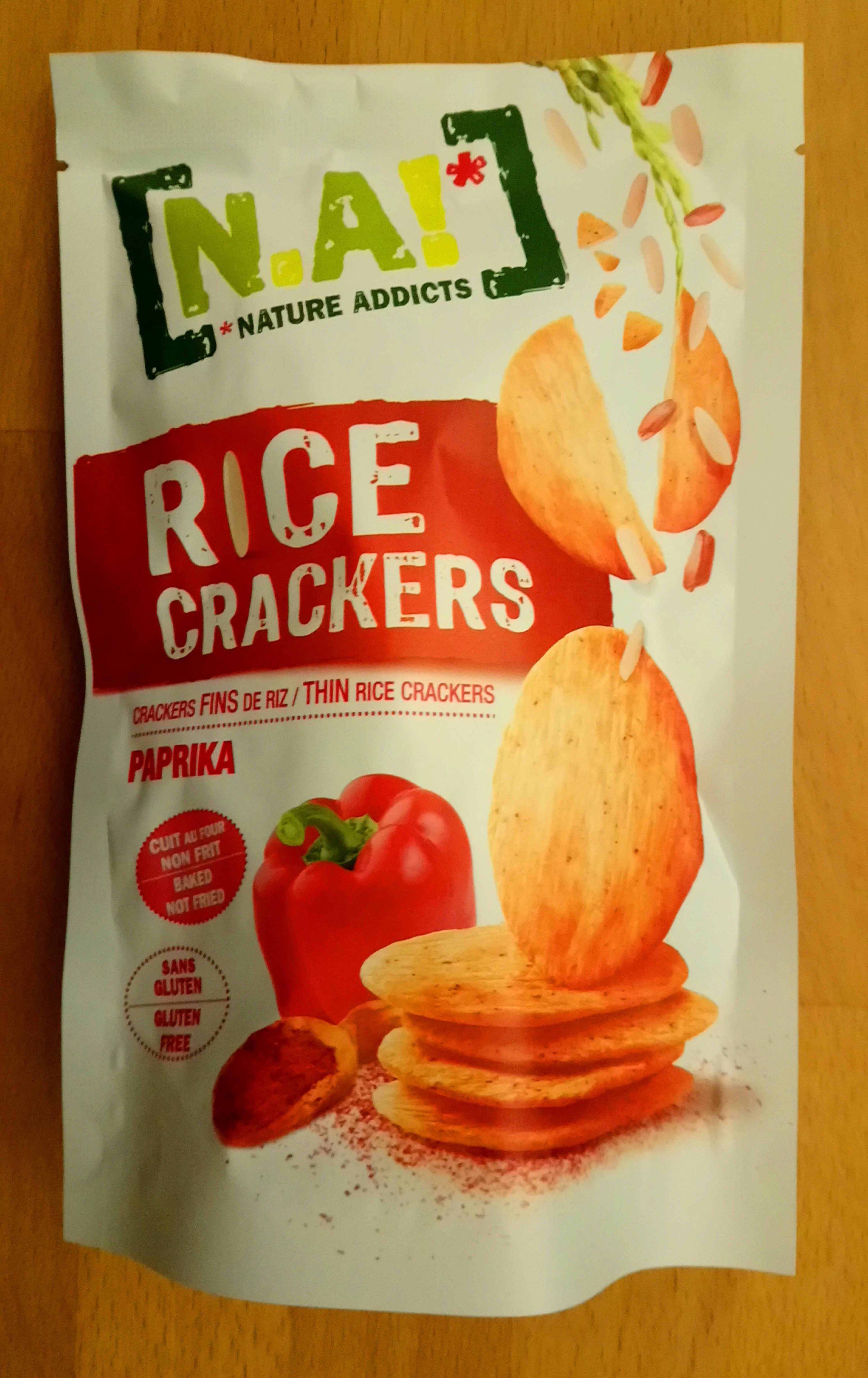 Nature Addicts Rice Crackers Paprika - Produkt - fr