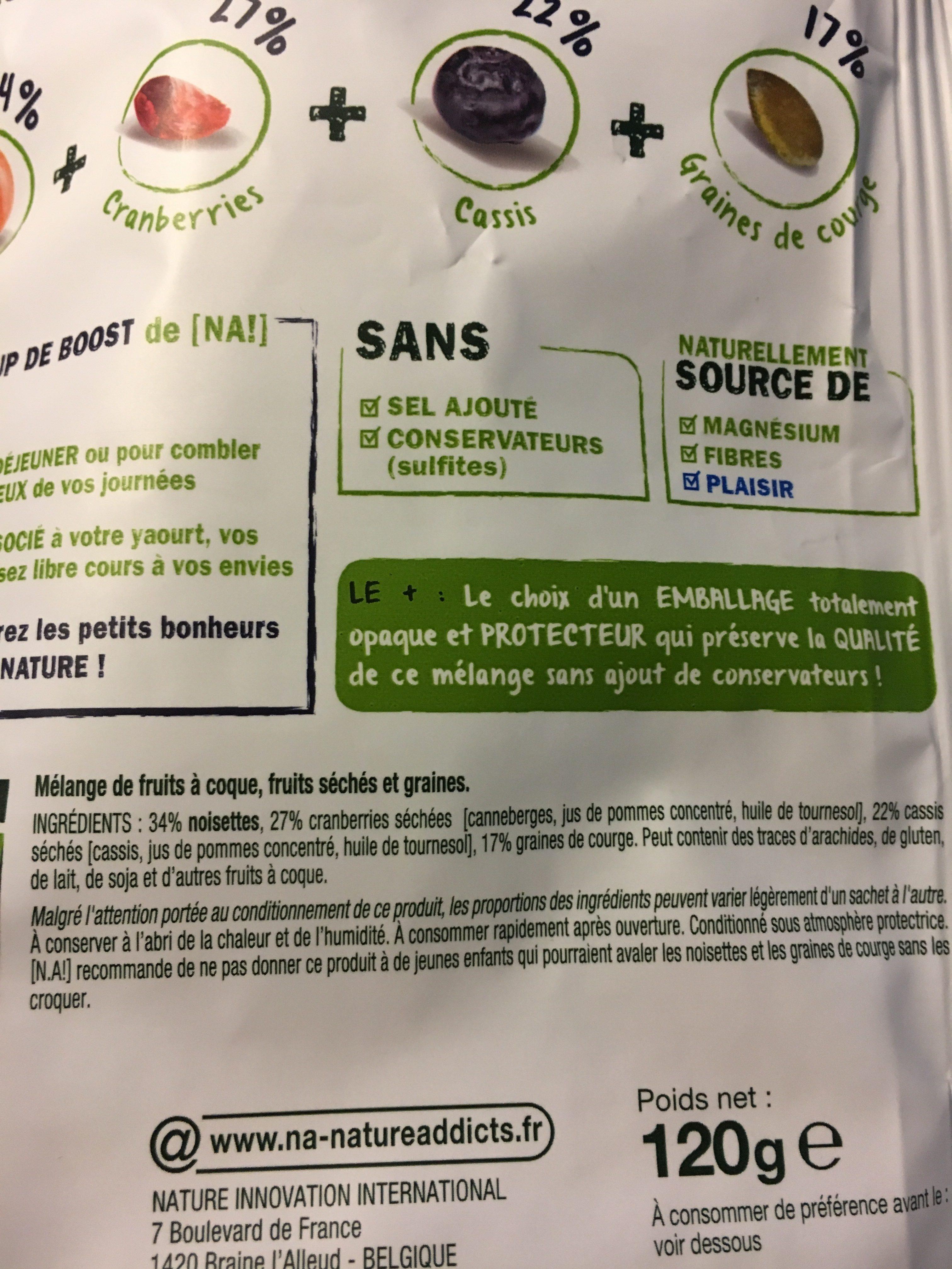 My mix blue boost - Ingrediënten - fr