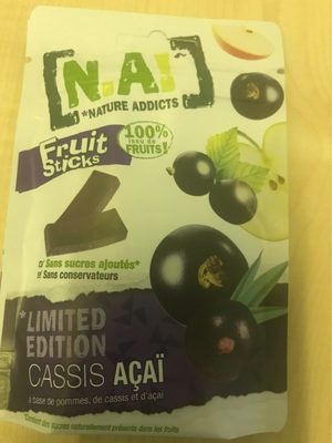 Fruit sticks Limited edition cassis açaï - Product