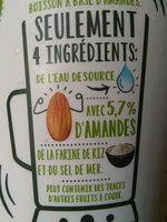 Amande nature - Ingrédients